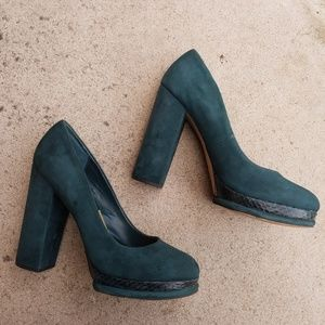 Dolce Vita | Teal Faux Suade Block Heel